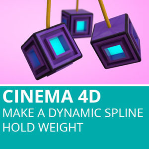 Make A Dynamic Spline Hold Weight In Cinema 4D