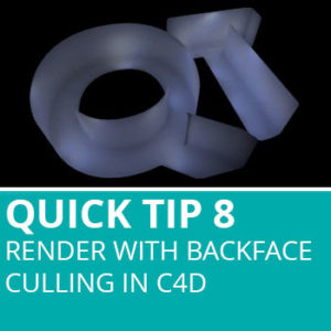 Quick Tip 8: Render With Backface Culling In Cinema 4D