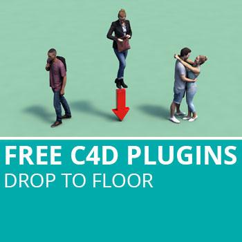 Free C4D Plugins: Drop to Floor