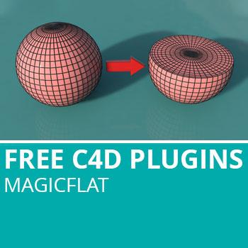 Free C4D Plugins: MagicFlat