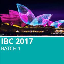 IBC 2017 Batch 1