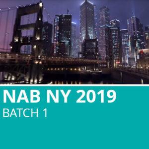 NAB NY 2019 Batch 1