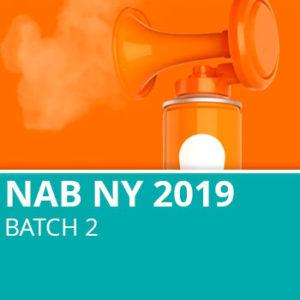 NAB NY 2019 Batch 2